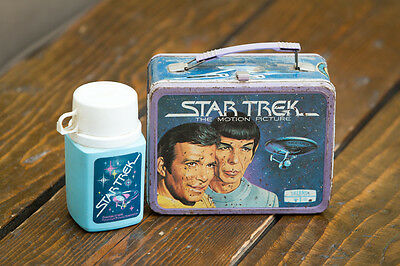 Vintage 1979 Metal Lunchbox Lunch Box w/ Thermos Star Trek The Motion Picture