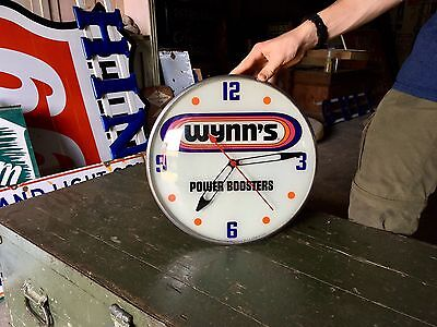 Original Vintage Wynn's High Performance Boosters Auto Advertising Clock by Pam!