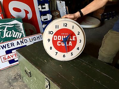Original Rare 1960's Drink Double Cola Soda Pop Advertisnig Clock Gas Oil!