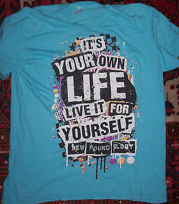 "New Found Glory blue T-Shirt XL ""It's your own life, live it for yourself"" NFG"