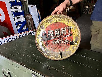 Original Extremely Rare Grant Batteries Advertising Bubble Glass Pam Clock!