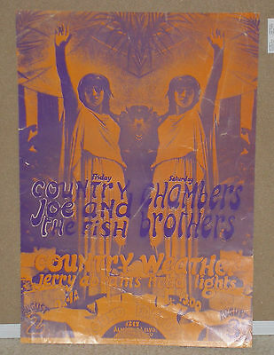 Country Joe Chambers Brothers The Sound Factory Fillmore Family Dog Era Poster