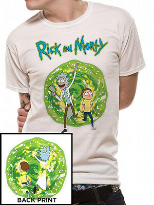 Rick And Morty Portal Spiral Get Schwifty Official Adult Swim White Mens T-Shirt