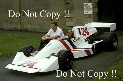 James Hunt & Lord Hesketh F1 Portrait 1975 Photograph