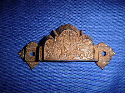 Antique Cute Eastlake Cast Iron Drawer Bin Window Pull