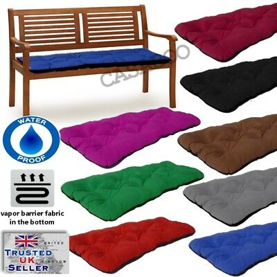 Waterproof Replacement Cushion 1-4Seater for Garden Pation Swing Bench pads