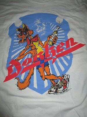 1988 DOKKEN World Concert Tour (XL) T-Shirt BREAKING THE CHAINS Tooth and Nail
