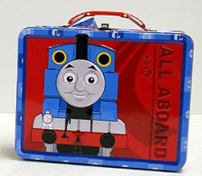Thomas the Train Square Carry All Tin Stationery Lunch Box Lunchbox - Red