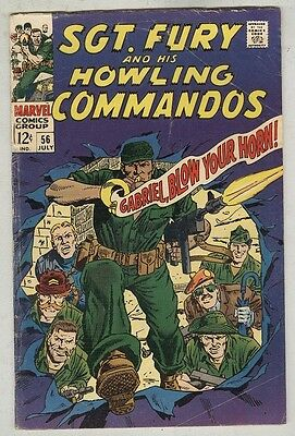 Sgt. Fury and his Howling Commandos #56 July 1968 VG-