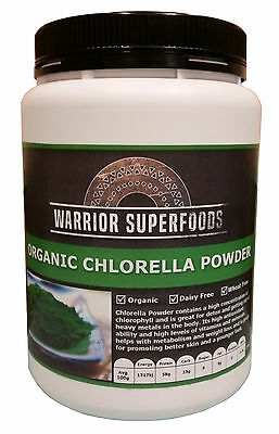 Warrior Superfoods Organic Chlorella Powder 100G to 1KG available