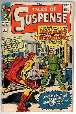 Marvel Tales Of Suspense IRON MAN #51 1ST SCARECROW VIEW SCANS FOR CONDITION