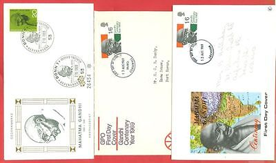 Germany UK Topic India GANDHI  3 FDC Cover Lot#1603