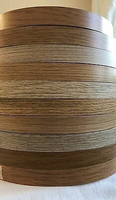 Oak/Light Oak Pre Glued Iron on Melamine Edging Tape various oak colours