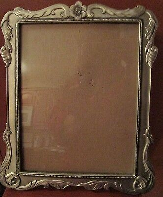 "Vintage Seagull Pewter Raised Scroll Picture Frame   9"" X 7""    1989"