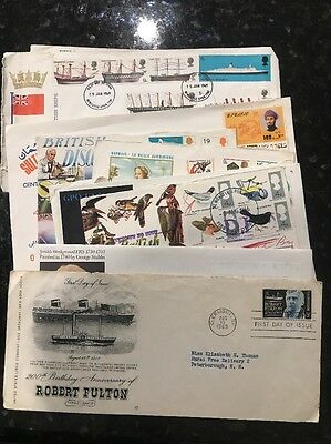 Collection of 13 International First Day Covers -countries listed in description