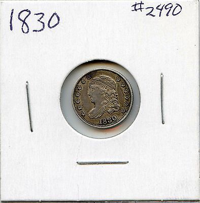 1830 H10C Capped Bust Silver Half Dime. Circulated. Lot #2176