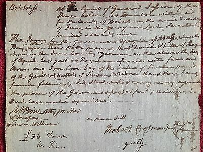 Robert T Paine Signer of Dec of Independence Signed Historical Document