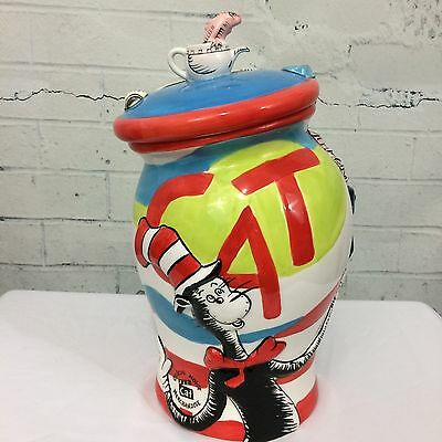 OFFICIAL Cat In The Hat DR SEUSS Cookie Jar 2003, Universal Studios EUC,