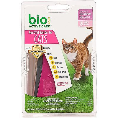BioSpot Spot on Flea Control For Cats/Kittens Over 5 lbs Under 5 lbs 3 month