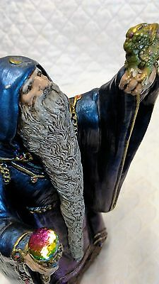 "Windstone Editions Wizard,pena '86 Fantasy,magic,7"" Tall,dragon,rainbow,rare Wow"