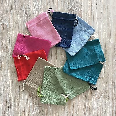 10 mix colour drawstring bag/pouch for bonbonniere, gift, birthday, baby shower