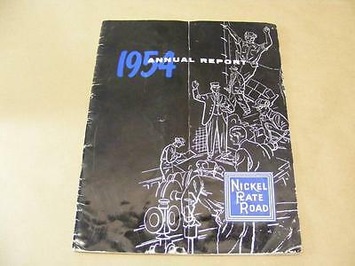 1954 Nickle Plate Road Annual Report Railroad Train