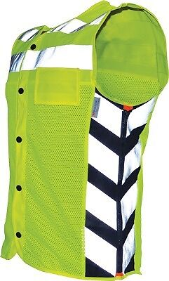 Missing Link Meshed Up Riding Vest Lightweight w/Reflective Striping Neon S-4X