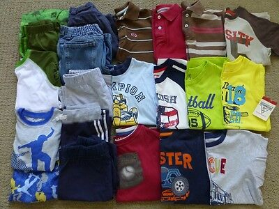 21 Piece Lot of Boys Summer Clothes Size 7 Great Condition Shirts Shorts Pajamas
