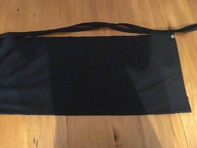 chef works black 3/4 bar apron