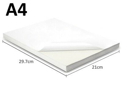 (40 Pack) A4 White Glossy Self Adhesive Paper 170GSM -1 label/sheet