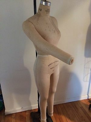 Vintage WOLF DRESS FORM  MANNEQUIN  #10 Full form with legs and moveable arm