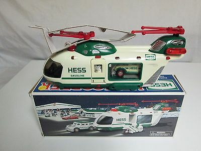 Hess Helicopter with Motocycle and Cruiser 2001