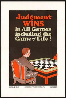 VTG Rare 1937 WPA Hope Of A Nation School CHESS GAME Board Children's Art POSTER