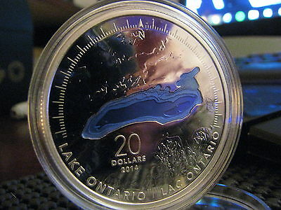 2014 Canada .9999 Silver 20$ - Great Lakes series - Lake Ontario - Coin #2