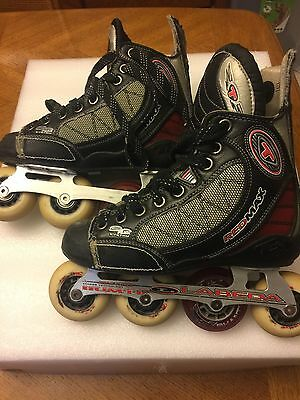 Youth Tour Red Code Roller Hockey Skates. Leather Lining.