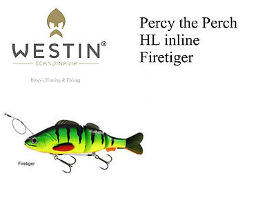 Westin Percy the Perch HL inLine jointed swimbait fishing Lure-firetiger