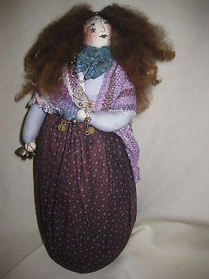 """Gretchen Lima 1989 Cloth Doll 12"""" Tall Signed"""