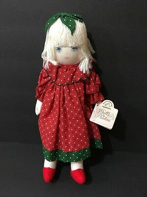 """12"""" Applause Dolls by Pauline Bjonnes Jacobsen """"MARY"""" Holiday Hearts 1991"""
