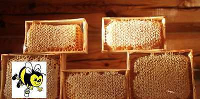 SALE!!! HONEYCOMB Unfiltered ORGANIC RAW HONEY, 11,46oz (=325gr), in wood frame