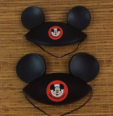 Disney World Mickey Mouse Ears Hat Black Authentic NEW Infant Youth Lot of 2