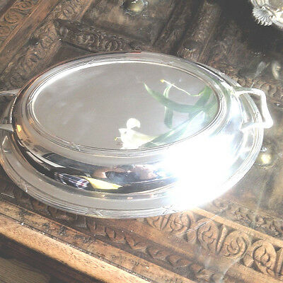 Attractive Serving Dish with Lid from Sheffield by US's National Silver c1930