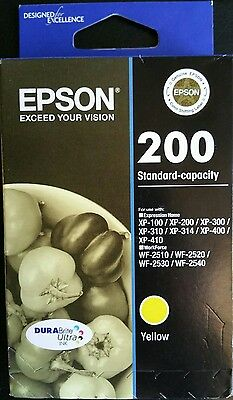 New Genuine EPSON 200 Yellow Ink Cartridge Factory Sealed AusPost Expires 2019