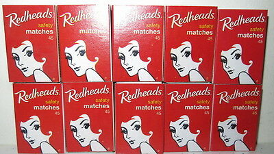 REDHEADS 25 Match Boxes with Matches Made in Sweden  safety Matches New