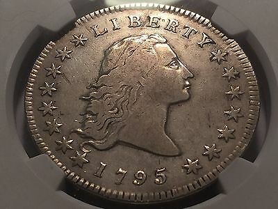 1795 Early Flowing Hair Silver Dollar * NGC  Very Fine + *