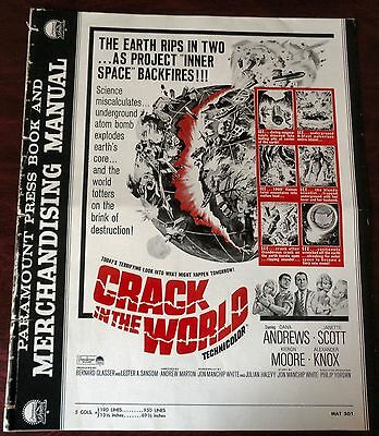 Crack In The World 1965 US pressbook with Herald