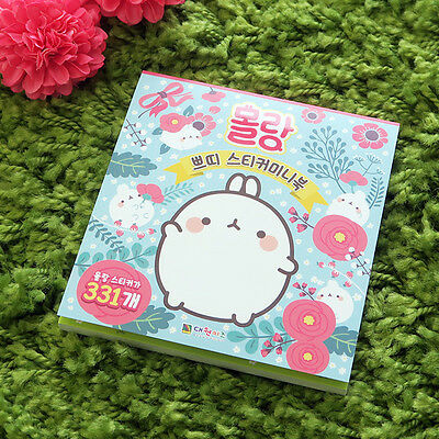 MOLANG Lovely Cute beauty Mini Sticker Book