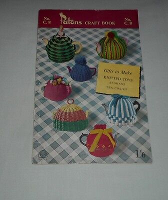 VINTAGE PATONS CRAFT BOOK No C 8 KNITTING BOOK, Tea Cosies, toys, gifts, afghans