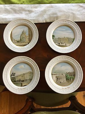 4 Continental German Kpm Berlin Porcelain Wall Plates