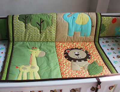 Baby Bedding Crib Cot Quilt Set 6pcs Quilt Bumper Sheet Dust Ruffle