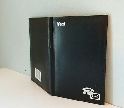 """BLACK NEW 67144 Mead Address Book. 52 sheets 7 3/4"""" x 5 1/8"""" FREE FAST SHIPPING"""